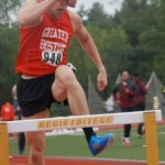 Hurdling at USATF-NE in 2011.