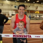 With Gabriel after a meet at UMN in 2013.